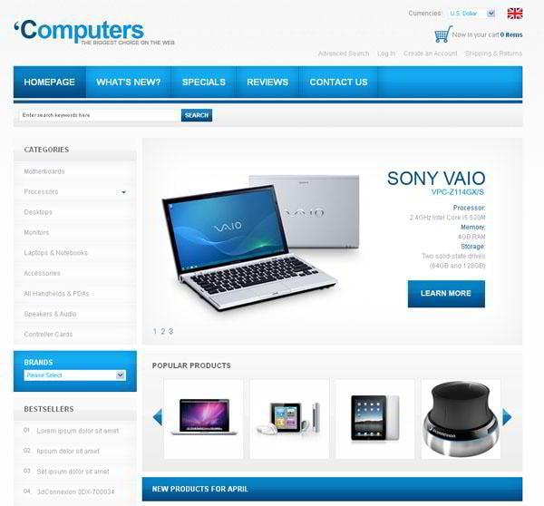 ecommerce-jquery-templates