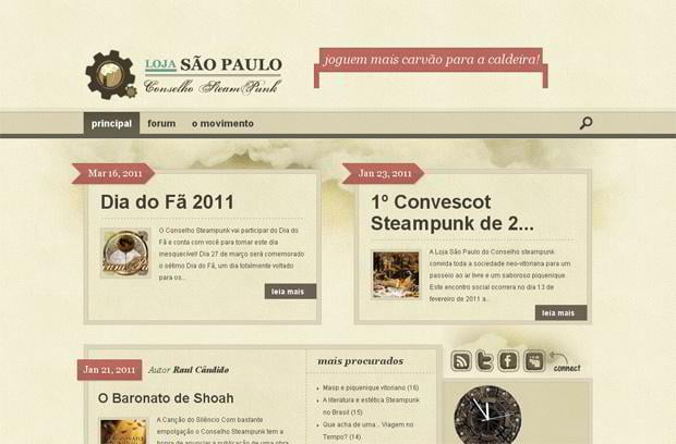 fanciful steampunk styled website designs monsterpost
