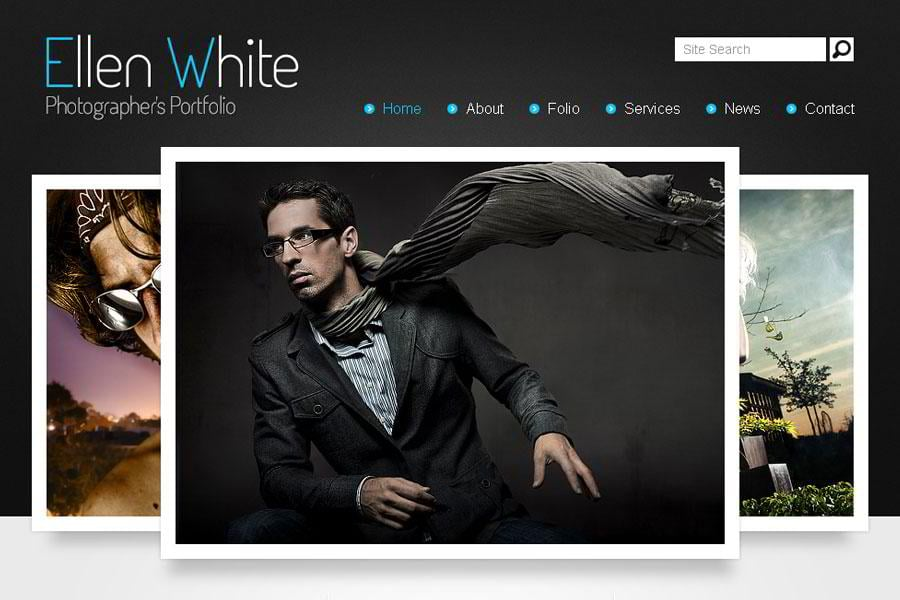 Free Website Template Start Photographers Portfolio MonsterPost - Free photography website templates