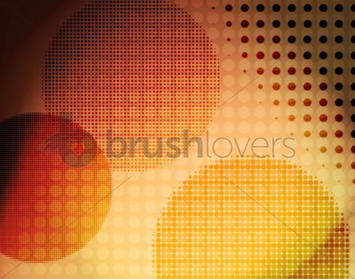 retro circle photoshop brushes
