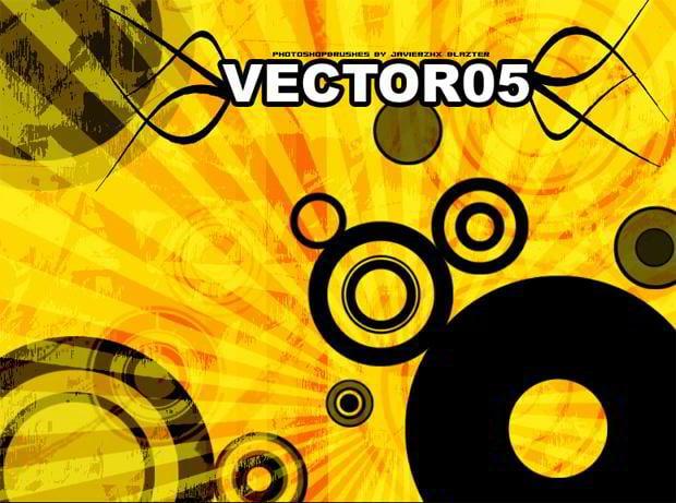 retro vectors brushes