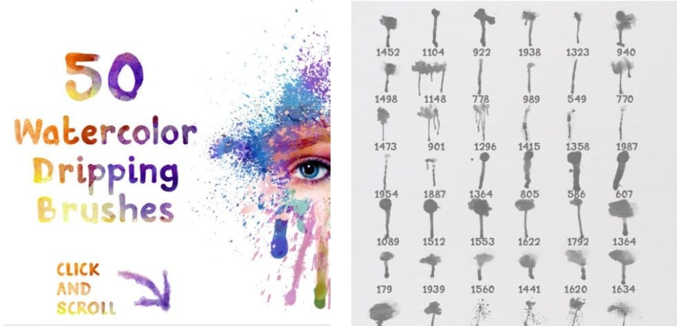 Watercolor Dripping Brushes