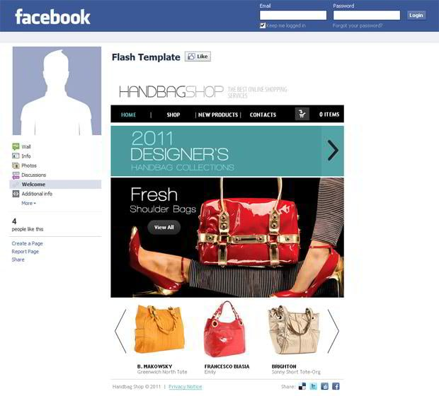 ecommerce facebook template