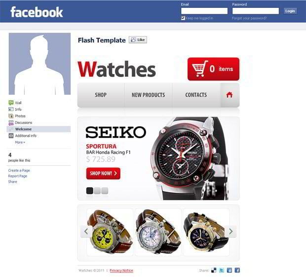 facebook flash template