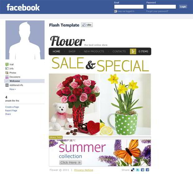 facebook ecommerce template
