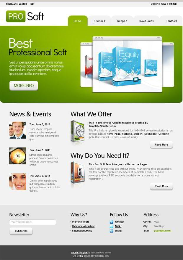 Free website templates templatemonster summer 2011 collection free website templates cheaphphosting Gallery