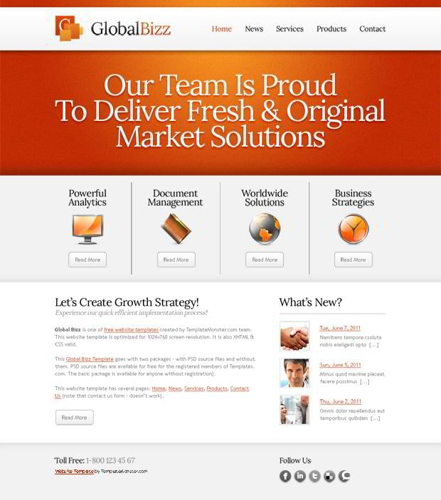 free website templates provided by hostgator com. free website ...