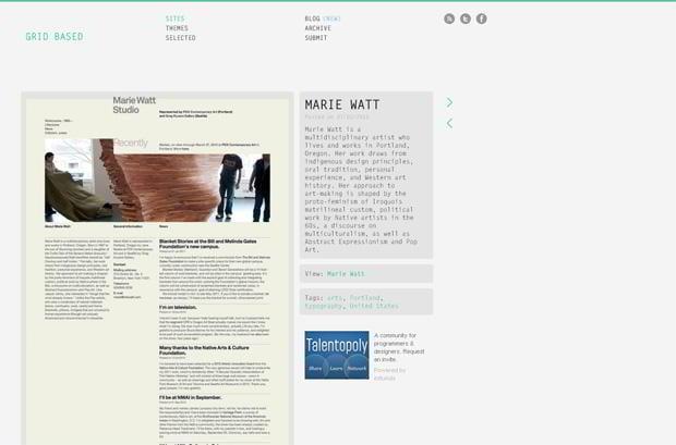 grid types website design