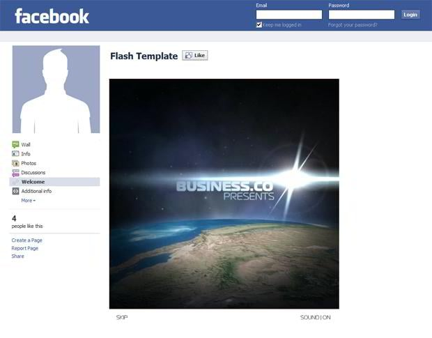 Facebook corporate and business templates showcase monsterpost business facebook flash intro template fbccfo Image collections
