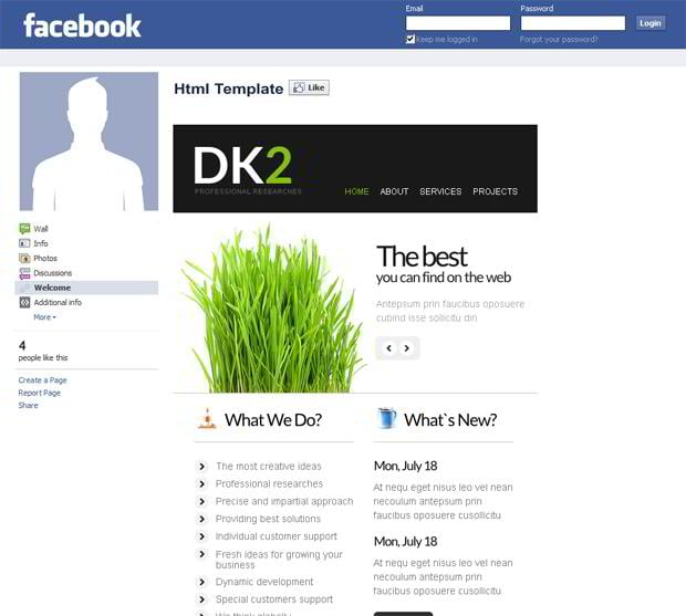 Facebook corporate and business templates showcase monsterpost dk2 facebook template facebook business templates friedricerecipe Choice Image