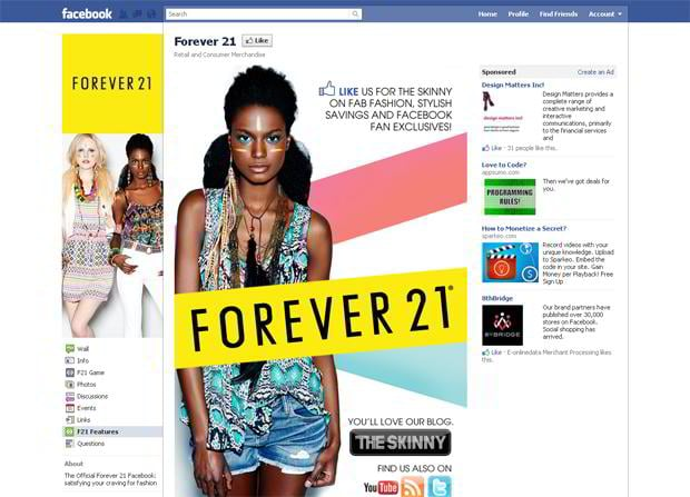 facebook store design showcase