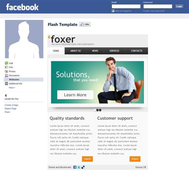 Facebook corporate and business templates showcase monsterpost forex facebook flash template business facebook templates fbccfo Image collections