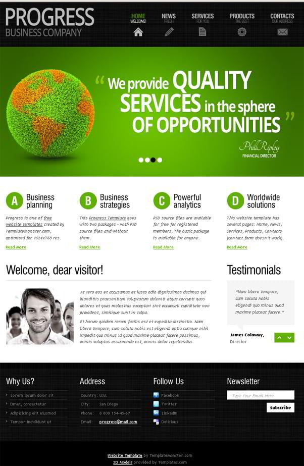 Free website templates templatemonster summer 2011 for Templat monster
