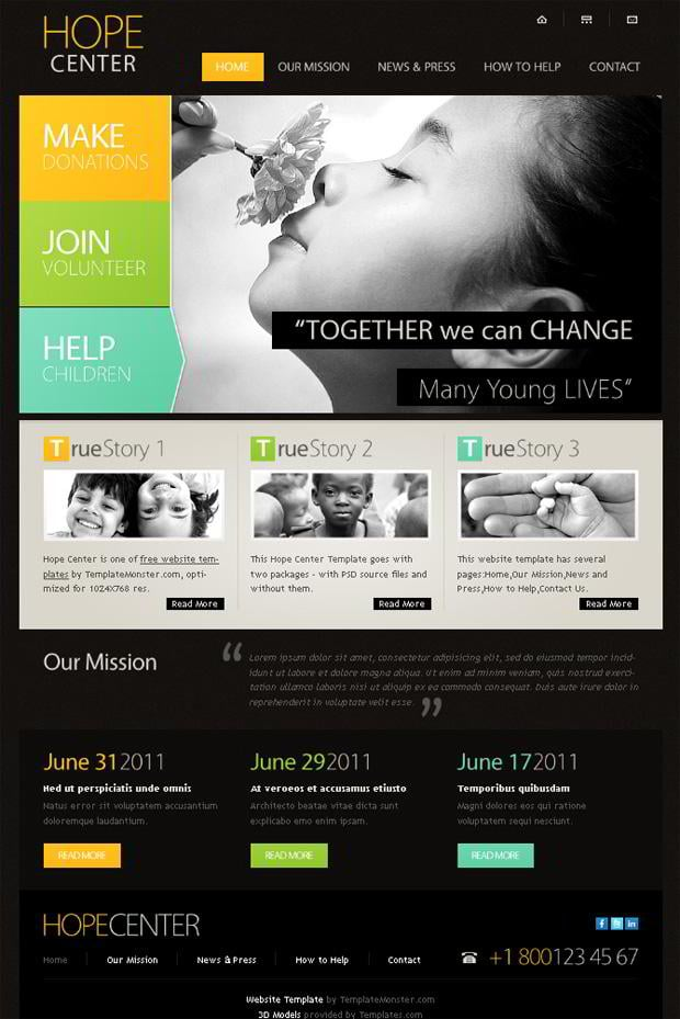 Free Website Template with Typography and jQuery Slider - MonsterPost