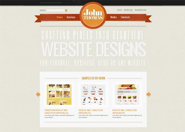 symmetrical web template