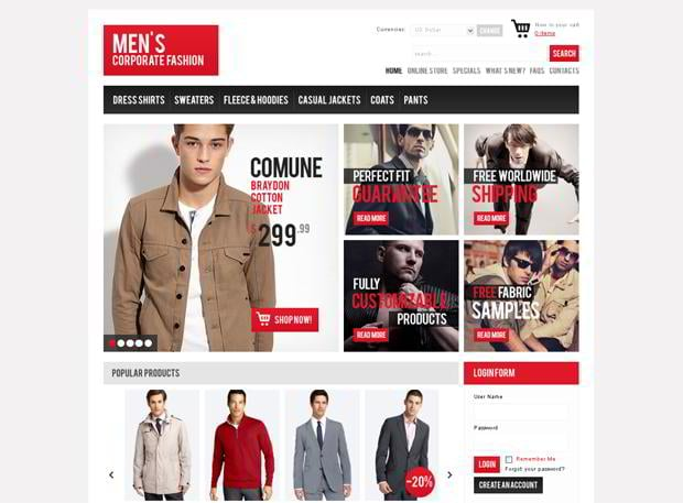 virtuemart ecommerce designs