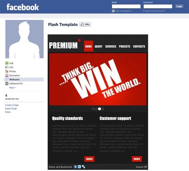 facebook corporate templates