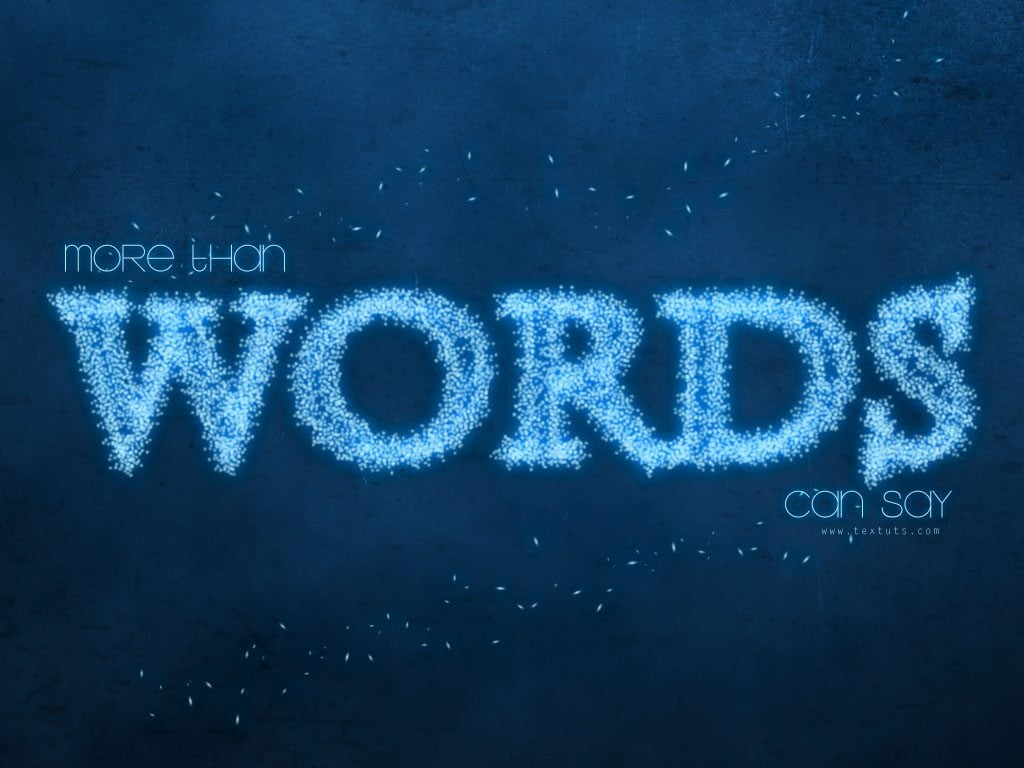 photoshop text effect tutorial