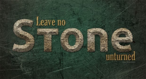 photoshop text effects tutorial
