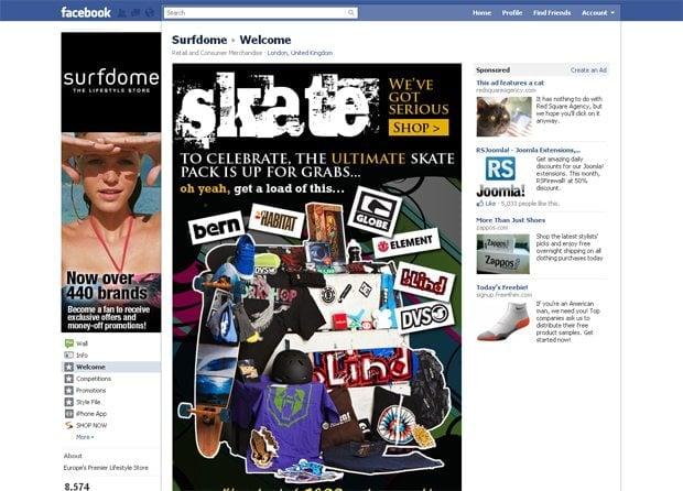 facebook store design showcase