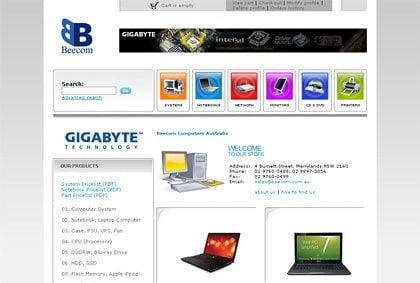 Beecom website screen