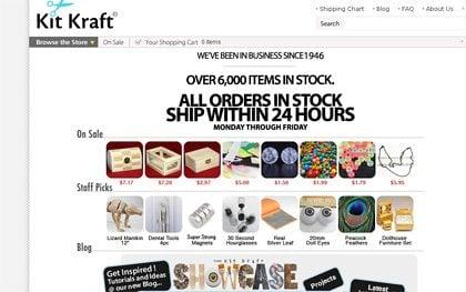 kitkraft web page screen