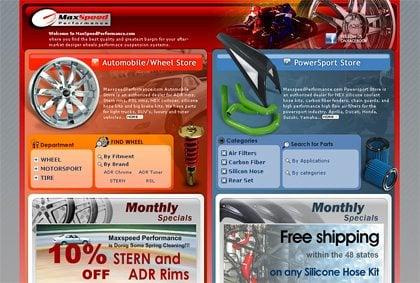 maxspeedperformance page screen