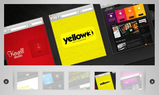 slider website designs