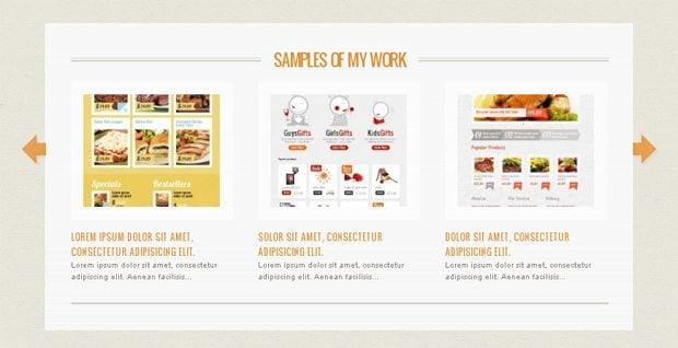 slider website templates