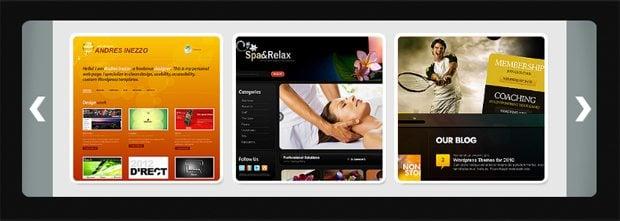 slider website design