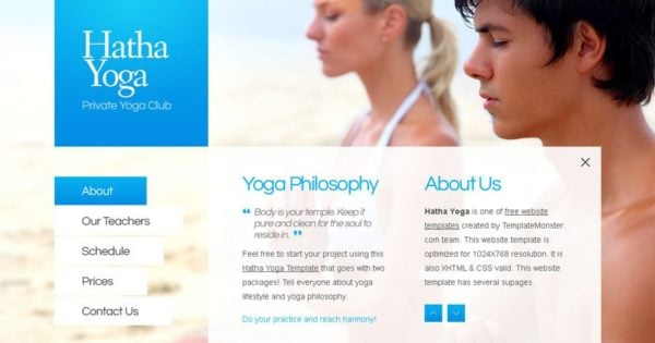 free website template for yoga center full javascript monsterpost
