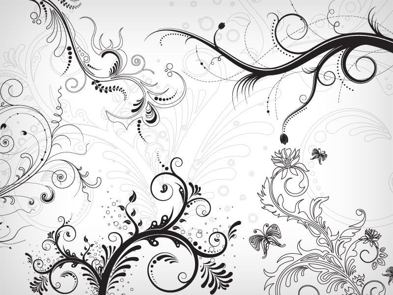 50 Free Swirl & Floral Brushes for Photoshop - MonsterPost