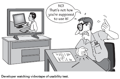 Dev watching usability test