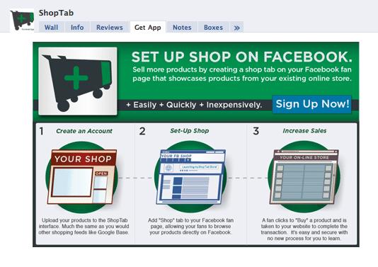 Shop tab service