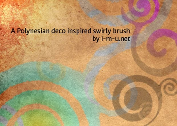 free photoshop swirl floral brushes