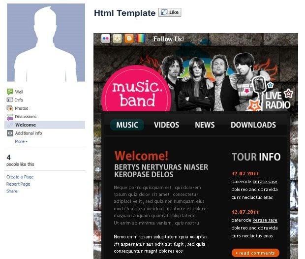 Facebook template 1