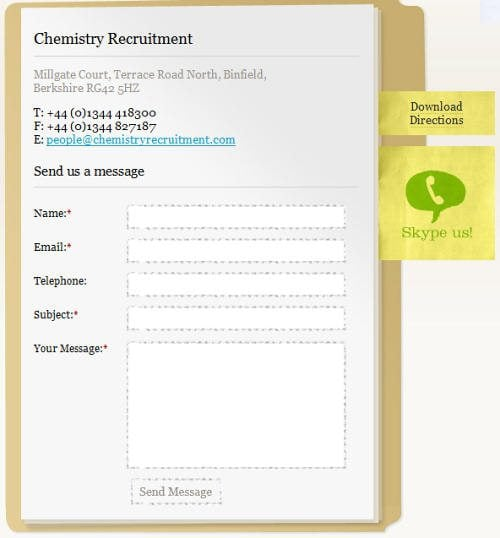 Chemistry Recruitments form