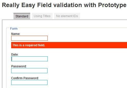 Inline validation