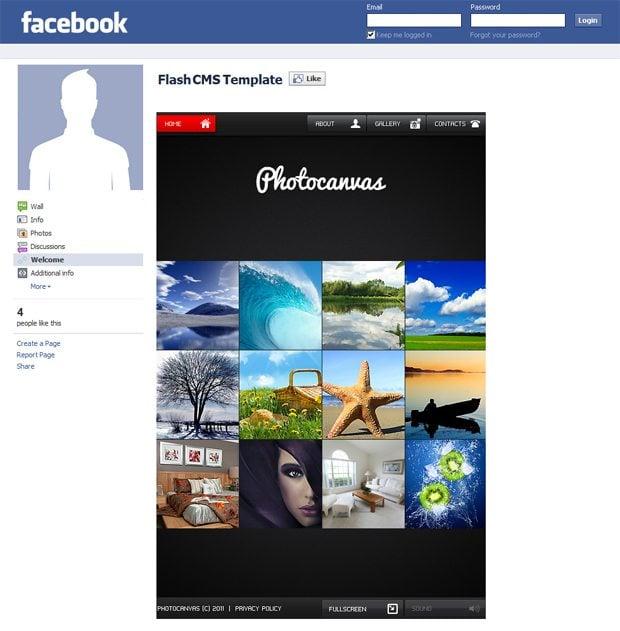 motocms facebook templates showcase monsterpost. Black Bedroom Furniture Sets. Home Design Ideas