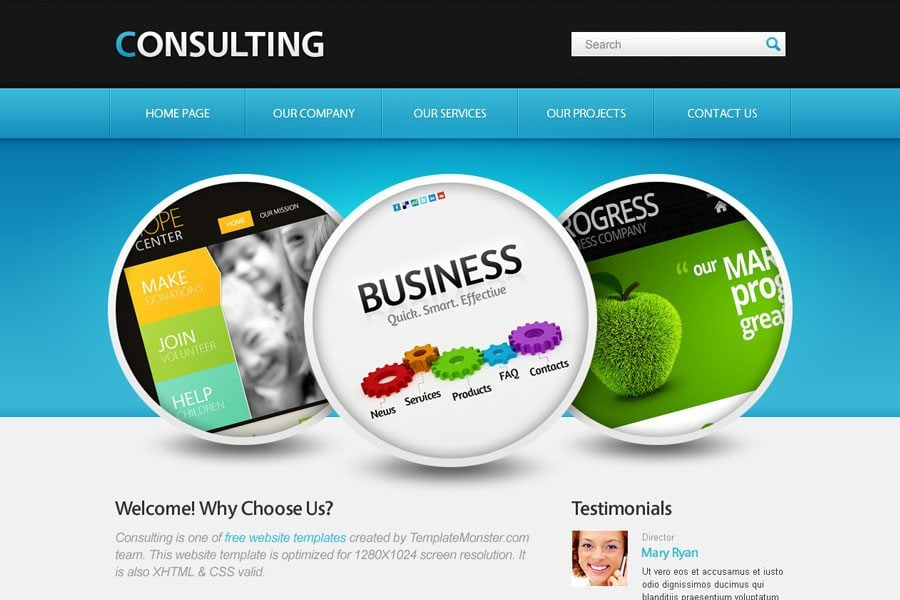 free website template with jquery slider for consulting business
