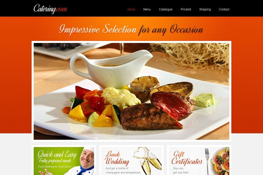 Food Delivery Website Template WordPress