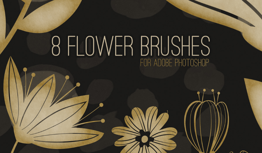 8 Free Flower Brushes