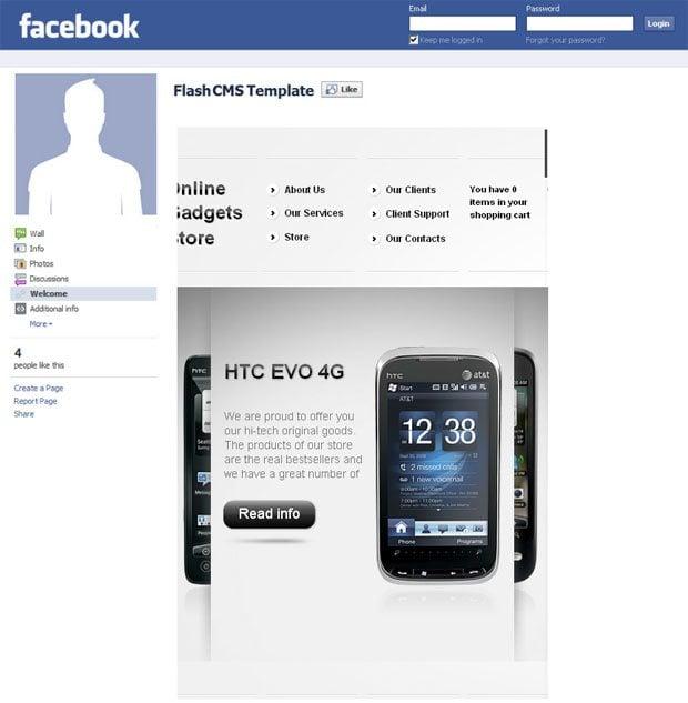 facebook-flash-cms-store-template
