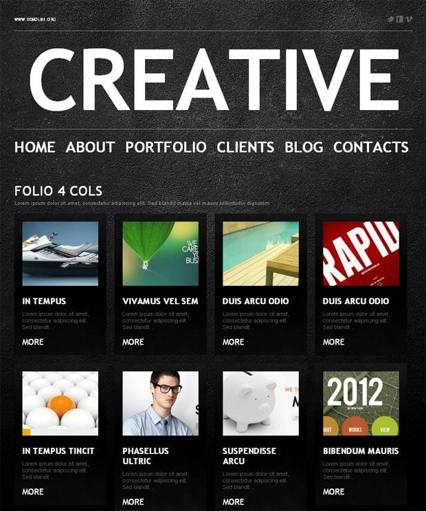 Custom post types and page templates in templatemonster wordpress wordpress portfolio page template pronofoot35fo Images