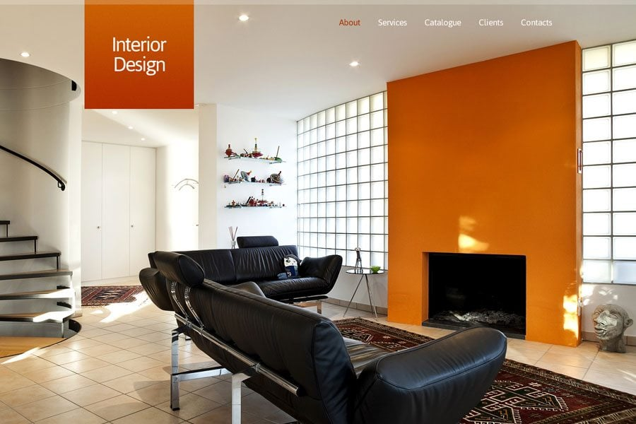 Free Full JavaScript Animated Template For Interior Design Website