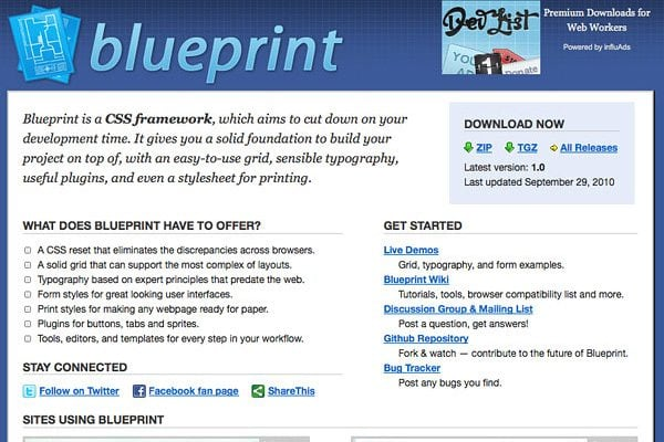 Blueprint CSS grid
