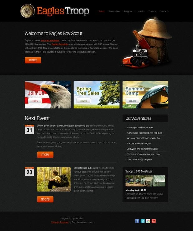 Free Website Templates. TemplateMonster Winter 2012 Collection ...