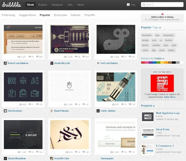 Case Closed Benefit Received By Other Means: How Regular Designers Can Benefit From Dribbble?