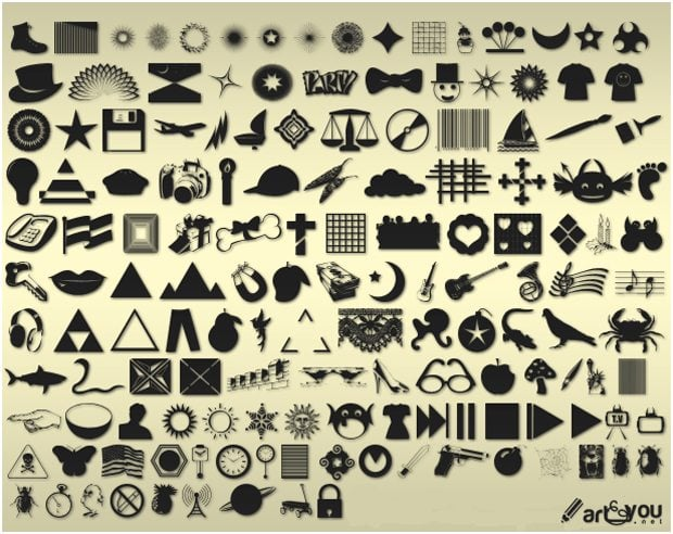 The Ultimate Roundup of 1500+ Free Photoshop Custom Shapes