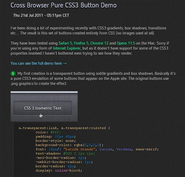 Cross Browser Pure CSS Button
